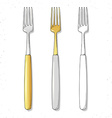 Set realistic sketch forks Plugs to create design vector image