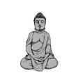 buddha stone figure vector image