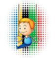 Olympics theme with male gymnastics vector image
