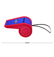 A Blue and Red Whistle of Guam Flag vector image vector image