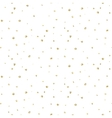 Abstract dotted glitter gold snow seamless pattern vector image vector image