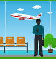 african american businessman at the airport vector image vector image