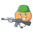 army mochi character cartoon style vector image vector image