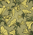 bell flowers pattern vector image vector image