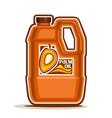 big orange plastic bottle with palm oil vector image vector image