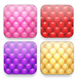 Blank upholstered color app icons vector image vector image
