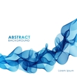 Blue wavy abstract background vector image vector image