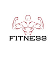 Bodybuilder Fitness Model silhouette design vector image