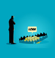 businessman thinking of taking loans vector image