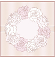 Card with rose frame in retro style vector image vector image