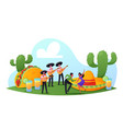 characters celebrate cinco de mayo mexican party vector image