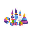 children toys flat bright vector image