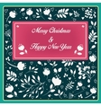 Christmas and New Year floral card vector image vector image