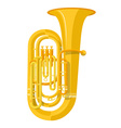colored flat style tuba music instrument vector image vector image