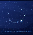 constellation corona borealis northern crown vector image vector image