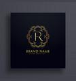 creative letter r premium logo design concept vector image vector image