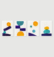 creative minimalist hand painted abstract art vector image vector image