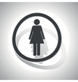 Curved woman sign icon vector image