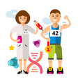 doping and sport concept flat style vector image