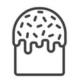 easter cake line icon easter and holiday vector image vector image