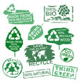 ecology stamps set vector image vector image
