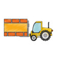 forklift vehicle with board construction vector image