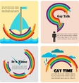 four gay icons infographics vector image vector image