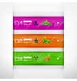 Glass infographics banners vector image