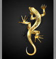 golden patterned lizard vector image
