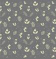 gray seamless pattern with plant silhouettes vector image vector image