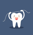 happy tooth icon cute tooth characters brushing vector image vector image