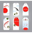 koi japanese style label tags vector image vector image