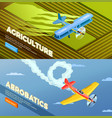 light aerorplane banners collection vector image
