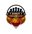 logo basketball sport emblem vector image vector image