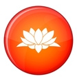 Lotus flower icon flat style vector image vector image