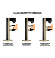 mammography mammographic world breast cancer day vector image vector image