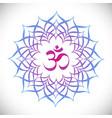 mandala with omkara sign inside vector image