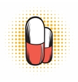 Medical capsule comics icon vector image vector image