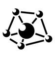 molecule lab icon simple black style vector image vector image