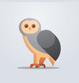 owl bird icon cute cartoon wild animal symbol vector image