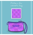 PatternCosmeticBag vector image vector image