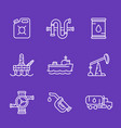 petroleum industry oil and gas production icons vector image vector image