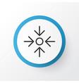 project target icon symbol premium quality vector image
