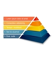 Pyramid chart for infographics vector image