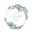 realistic wreath frame vector image vector image
