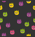 seamless pattern with colorful fleas vector image