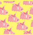 seamless pattern with the image of a cartoon pink vector image