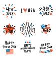 set fourth july badges vector image vector image