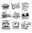 set hand drawn summer signs and banners vector image vector image
