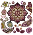 Set of Paisley elements vector image vector image
